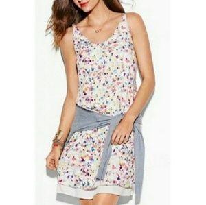 Cabi Meadow Dress Ditsy Watercolor Sun Dress XL